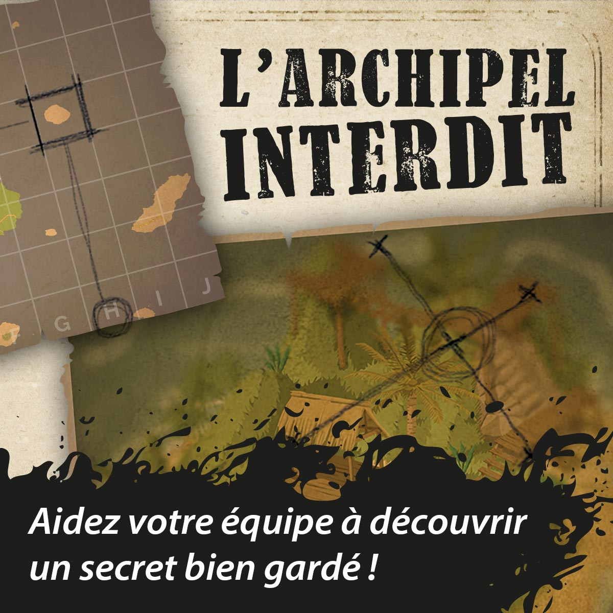 "Visuel scénario escape game ""L'archipel interdit"""